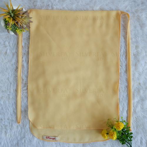Foto Produk Cadar Tali 2 Layer (tanpa jahitan bawah mata) Cerruty Babydoll - Soft Yellow dari SILVERFA
