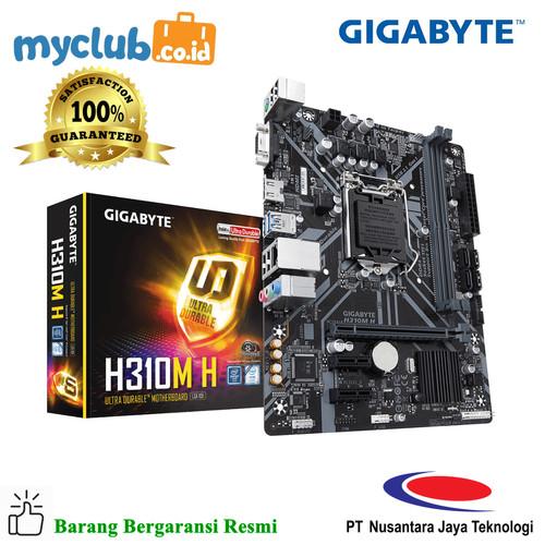 Foto Produk Gigabyte Motherboard H310M H 1.0 Socket LGA1151 Micro ATX 2 x DDR4 dari Myclub