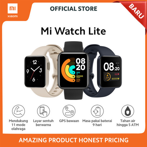 Foto Produk Xiaomi Mi Watch Lite - Garansi Resmi TAM Xiaomi Indonesia - Black dari Universe Store