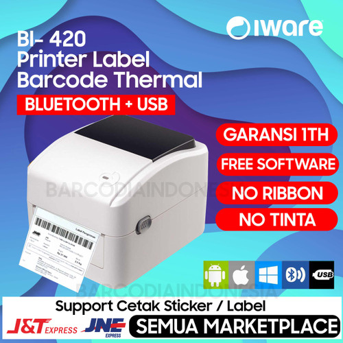 "Foto Produk PRINTER BARCODE BLUETOOH/USB/WIFI LABEL THERMAL 4"" - XPRINTER BI 420B - BLUETOOTH dari Barcodia Indonesia"