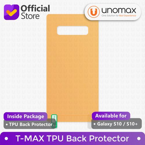 Foto Produk Back Protector Samsung Galaxy S10 / S10+ Plus T-MAX TMAX TPU Hydrogel - S10 Plus dari unomax