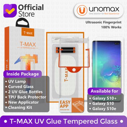 Foto Produk T-MAX Samsung Galaxy S10 / S10+ Plus UV FULL GLUE Tempered Glass - S Ten dari unomax