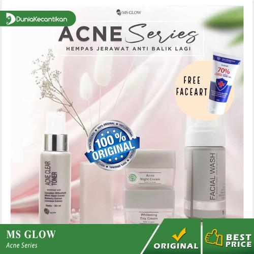 Foto Produk Ms Glow Paket Acne Series Free Pouch / Cream Penghilang Jerawat dari DuniaKecantikan