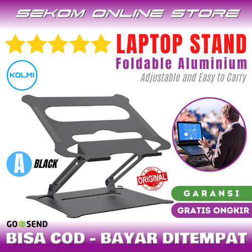 Foto Produk KOLMI Stand Laptop Aluminium Mirip NILLKIN - A BLACK dari SEKOM ONLINE STORE