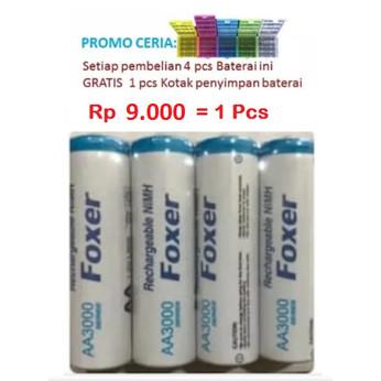 Foto Produk Baterai batre battery cas recharge rechargeable AA aa A2 dari Gadget Thumb