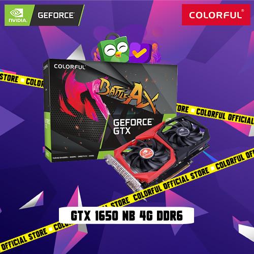 Foto Produk COLORFUL GEFORCE GTX 1650 NB 4G DDR6 dari Colorful Official Store