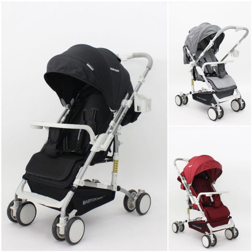 Foto Produk Stroller BabyDoes / Baby Does CH-SY 319 SN Hola R Stylish Reversible - Red dari Baby_Stor