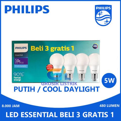 Foto Produk Philips LED Paket Multipack Bulb 6W 8W 10W 12W Essential 7W 9W 11W - MultipackEss 5W dari Grosir Listrik Online