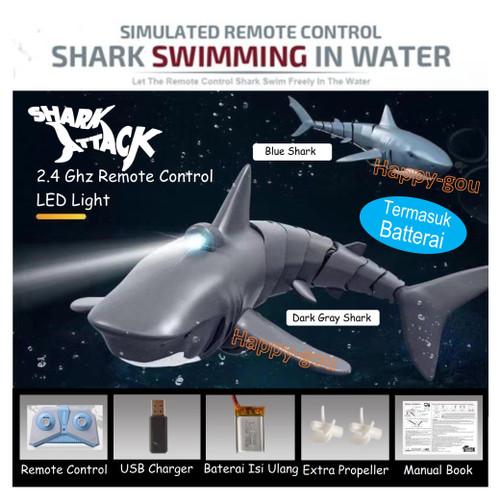 Foto Produk Mainan RC Ikan Hiu LED Shark Kapal Robot Remote Control - Paket Standard dari Happy-Gou