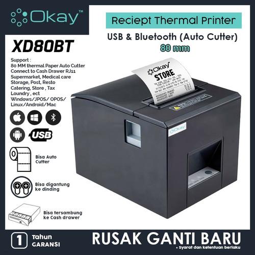 Foto Produk Printer bluetooth Thermal 80mm Reciept Pos PPOB Kasir OKAY XD80BT dari OKAY INDONESIA
