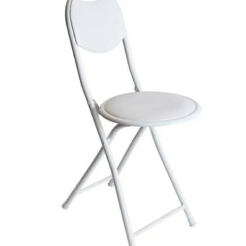Foto Produk KRISBOW kursi lipat bulat uk 44.5 x 49 x 80 cm - Putih dari DS Official