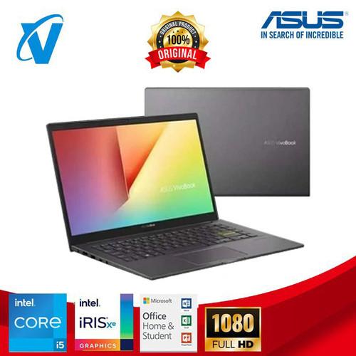 Foto Produk Asus VivoBook K413EA Intel i5-1135G7 RAM 8GB SSD 512G 14'' Win10 + OHS - Silver dari V-TECHNOLOGY Official Store