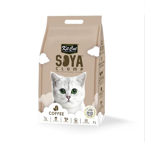Foto Produk Kit Cat Tofu Soya Clump Litter 7L Coffee Pasir Kucing Gumpal Kopi dari Hime petshop