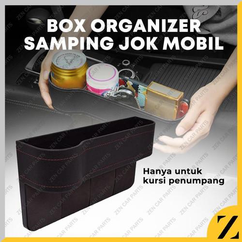 Foto Produk Rak Selip Kotak Samping Kursi Jok Mobil Car Seat Gap Storage Holder HP dari Zen Car Parts
