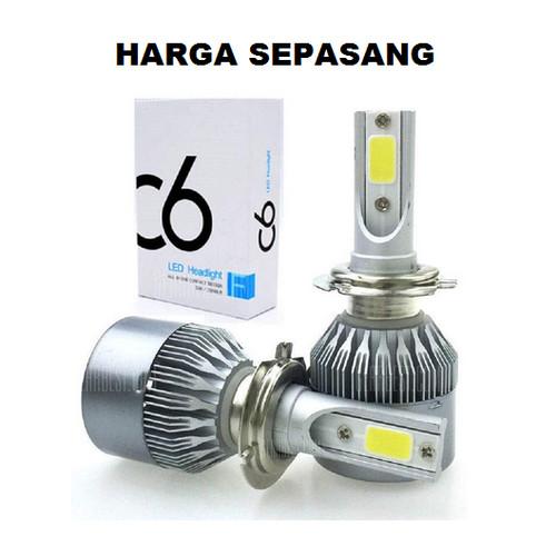 Foto Produk Lampu Utama Mobil LED Headlight C6 SILVER H1 H3 H4 H7 H11 HB3 HB4 - H11 dari Motovindo