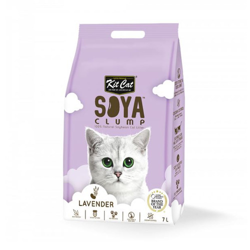 Foto Produk Kit Cat Tofu Soya Clump Litter 7L Lavender Pasir Kucing Gumpal No Dust dari Hime petshop
