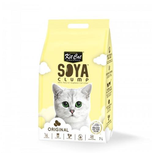 Foto Produk Kit Cat Tofu Soya Clump Litter 7L Original Pasir Kucing Gumpal No Dust dari Hime petshop