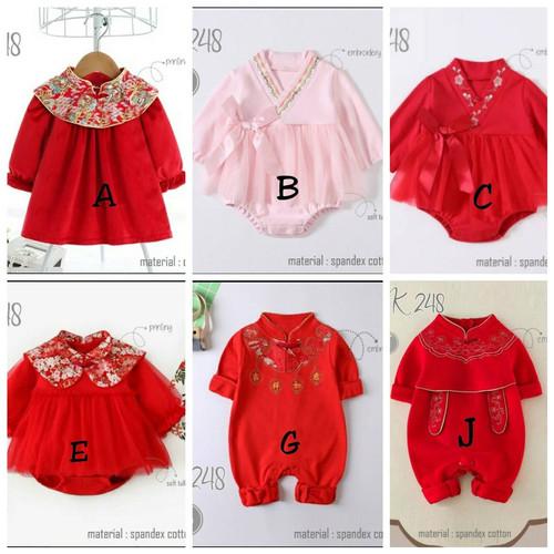Foto Produk BJ291 baju imlek anak bayi 0-18 bulan laki perempuan jumper cheongsam - GAMBAR K, 18 bulan dari EMY BABYSHOP