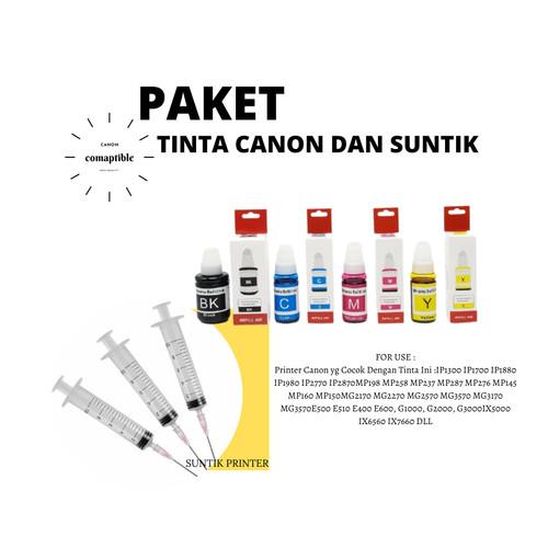 Foto Produk Paket Suntik suntikan printer dan Tinta Canon G1010 G2010 G3010 G4010 dari Wirama Refill Center