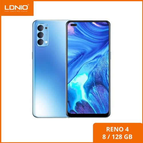 Foto Produk OPPO Reno 4 + GIFTBOX RAM 8GB ROM 128GB [ 8/128 ]GB Garansi Resmi - Hitam dari Ldnio Official Store