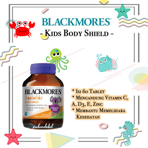 Foto Produk Blackmores Kids Body Shield - Vitamin C A D3 E Multivitamin Anak - ED 09.2022 dari PinkCocoLabel