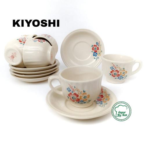 Foto Produk 6 Pasang Cangkir Set NIKURA BUNGA / Cangkir Teh / Cangkir Kopi - Kiyoshi dari Dapur Ny.Bun