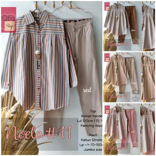 Foto Produk New Noela #11 Setelan Celana Wanita Jumbo Baju Kerja Big Size Modis dari Ilyassa Shop