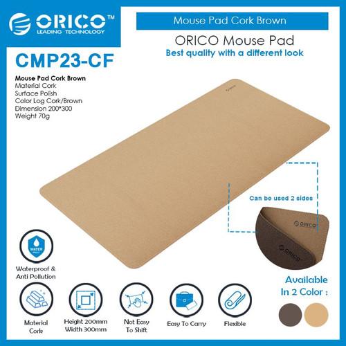 Foto Produk ORICO Mouse Pad Cork Brown 20x30cm - CMP23-CF dari ORICO INDONESIA