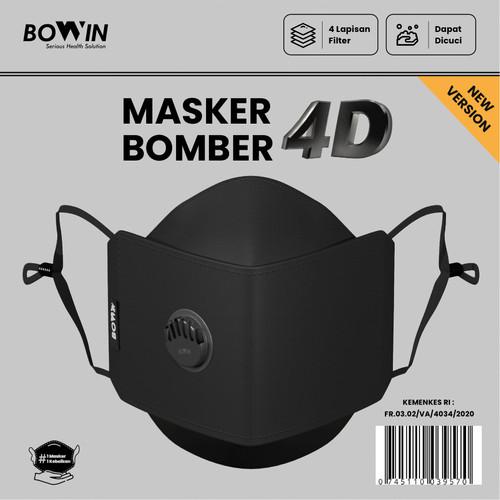 Foto Produk Bowin Masker Bomber - 2x Anti Bakteri & Percikan (Masker Kain 4 Lapis) - 4D- NEW VERSION dari Bowin Indonesia