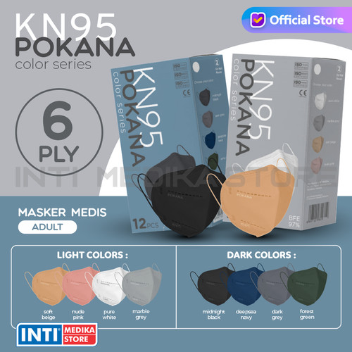 Foto Produk POKANA - Masker Earloop 6 Ply KN95 | Masker KN95 | Masker Medis - Deepsea Navy dari INTI MEDIKA STORE