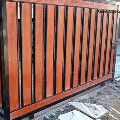 Jual Pagar Besi Motif Kayu Grc Pagar Rumah Woodplank Minimalis Kab Bogor Rhere Teknik Tokopedia