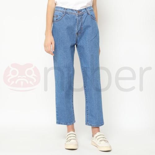 Foto Produk Celana Panjang Jeans Boyfriend Blue Non Stretch - Fireweed - 28 dari nubersupply
