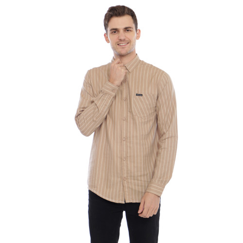 Foto Produk kemeja lengan panjang pria cottonology Jaen mocca - S dari Cottonology Indonesia