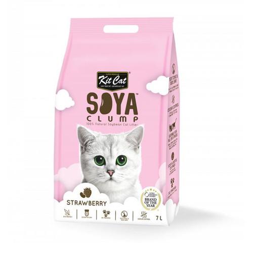 Foto Produk Kit Cat Tofu Soya Clump Litter 7L Strawberry Pasir Kucing Gumpal dari Hime petshop