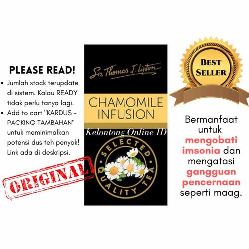 Foto Produk Lipton Teh Celup Chamomile - Isi 25 Sachet x 1gr dari Kelontong Online ID