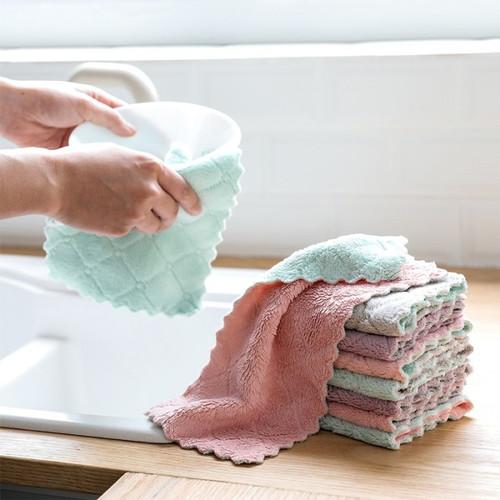 Foto Produk Kain Lap Dapur Microfiber Anti Minyak Lap Piring Kain Lap Serbaguna dari Interior House Concept