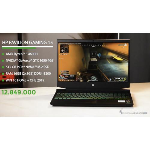 Foto Produk HP Pavilion Gaming 15 ec1077ax RYZEN 5 4600H 16GB 512GB GTX1650 4GB dari kharismakencana