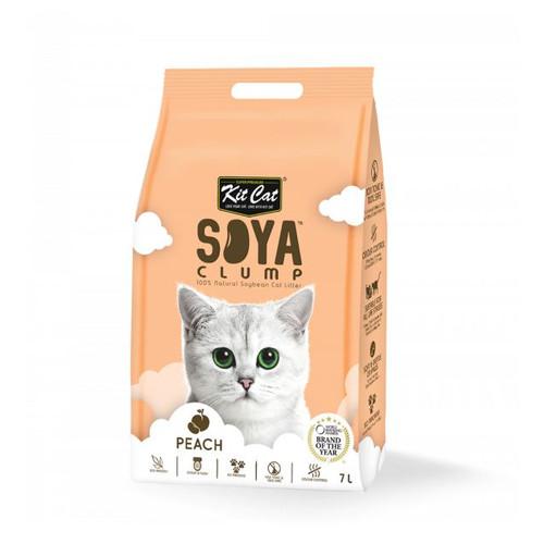 Foto Produk Kit Cat Tofu Soya Clump Litter 7L Peach Pasir Kucing Gumpal No Dust dari Hime petshop