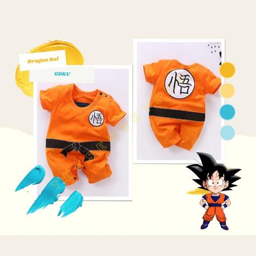 Foto Produk Baju Romper / Baby Jumper Anak Bayi cowo Anime Son Goku Dragon Ball Z - 6-9 Bulan dari Haskelshopp