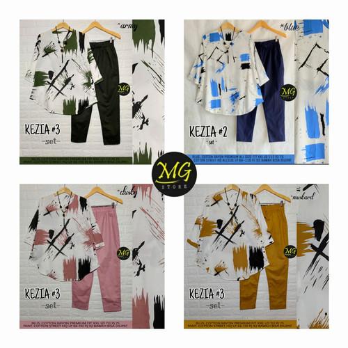 Foto Produk New Kezia Set Setelan Celana Wanita Baju Kerja Modis kekinian dari Ilyassa Shop
