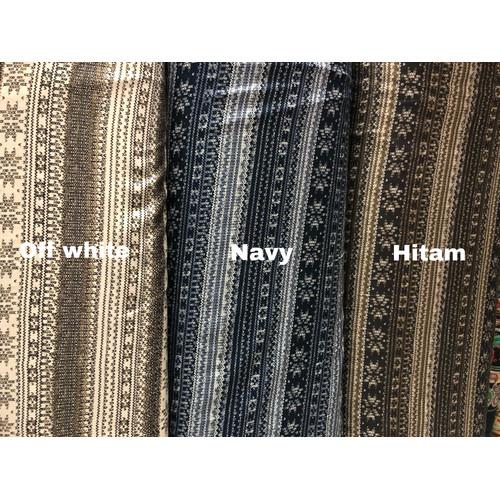 Foto Produk Kain viscose by tokai senko motif ethnic [HARGA PER 0,5 METER] - Navy dari Klarisma Textile