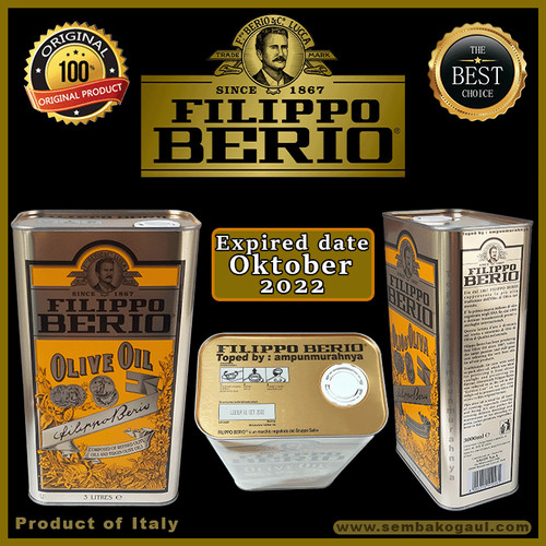 Foto Produk Olive oil filippo berio 3 liter dari Ampunmurahnya