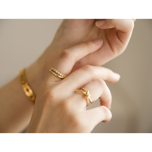 Foto Produk Dear Me - Nara Ring (925 Sterling Silver with 18K Gold Plating) Cincin - Silver dari Dear Me Jewelry