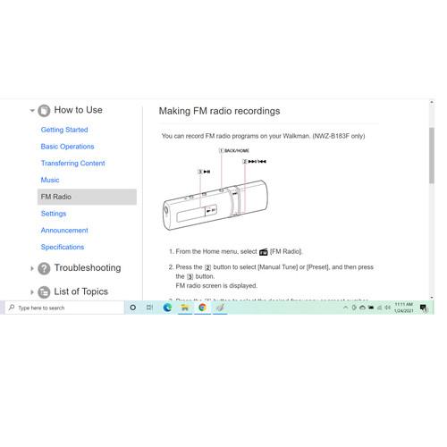 Foto Produk Making FM radio recordings and playing the recorded - Sony NWZ-B183F dari EtalaseBelanja