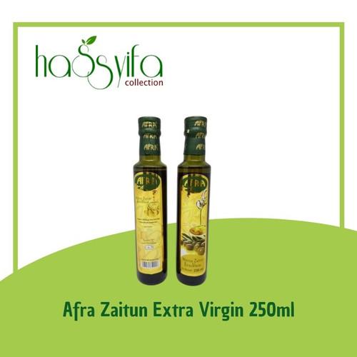 Foto Produk Afra 250ml (Kemasan Botol Panjang) Minyak Zaitun Extra Virgin dari Hassyifa collection
