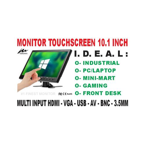 Foto Produk Touchscreen Monitor 10.1 Inch Portable - HDMI-VGA-USB-AV - KENOWA K11 dari EtalaseBelanja