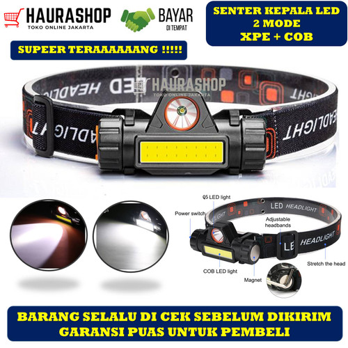 Foto Produk Senter Kepala COB LED Rechargeable / HEADLAMP SOROT dari Haurashop21