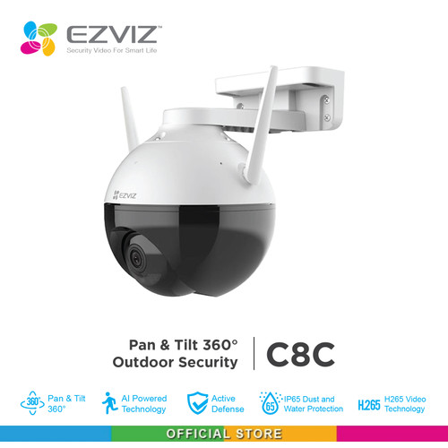 Foto Produk Ezviz C8C Outdoor Pan Tilt Wifi IP Camera Color Night Vision H.265 dari Ezviz Official Store