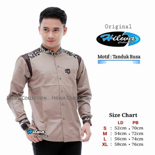 Foto Produk baju koko pria terbaru/koko kombinasi/koko lengan panjang/koko modern - Sesuai Gambar, L dari fashion muslim RA