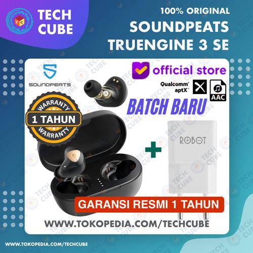 Foto Produk Soundpeats Truengine 3 SE TWS APTX Wireless Earphone Headset Bluetooth - Hitam Adaptor dari Tech Cube